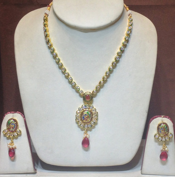 cz traditional necklace set