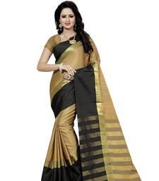 Buy Beige hand woven art silk saree with blouse banarasi-saree online