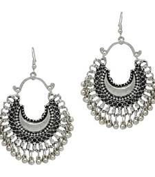 Buy Silver Color Partywear Collection Afghani Earrings danglers-drop online