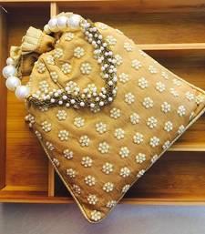 Buy Raw Silk Designer Potlis potli-bag online