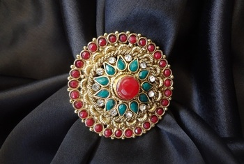 Adjustable Antique ring - Round Extra Large