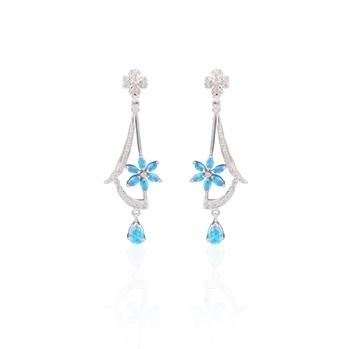 Metaculous american diamond earrings