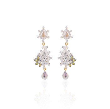 Iconic american diamond earrings