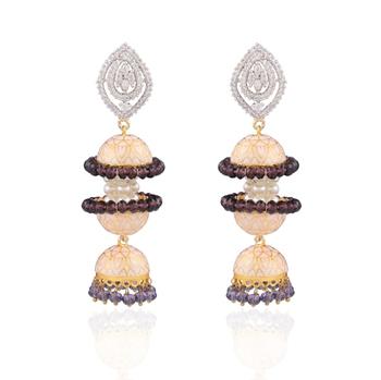 Statement american diamond earrings