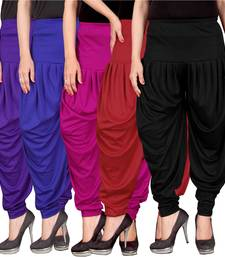 Blue pink red black stirped combo pack of 5 free size harem pants