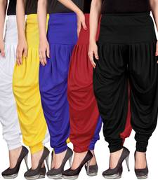 White yellow blue red black stirped combo pack of 5 free size harem pants harem-pant
