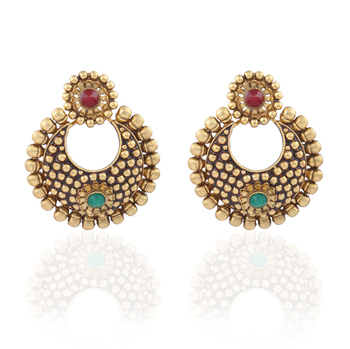 Valuepick Gold plated antique  earrings