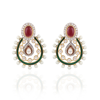 Victorios Gold plated victorian earrings