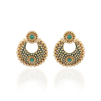 Gold plated antique  earrings