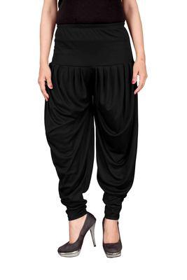 Black stirped free size harem pant