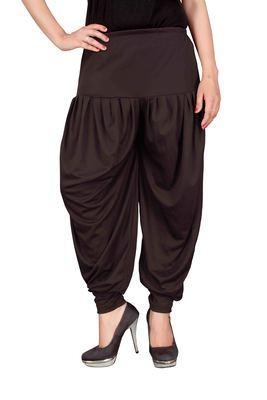 Brown stirped free size harem pant
