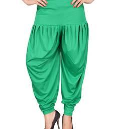 Buy Green stirped free size harem pant women-ethnic-wear online