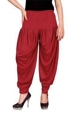Red stirped free size harem pant