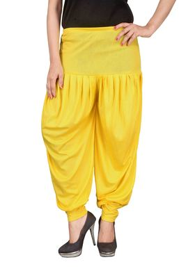 Yellow stirped free size harem pant