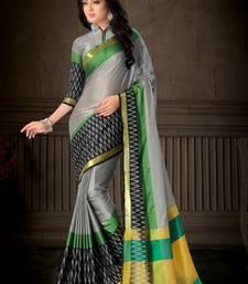 Buy Multicolor printed cotton silk saree with blouse multicolor-saree online