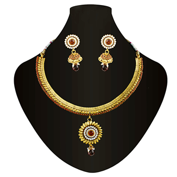 Gold plated antique necklace set