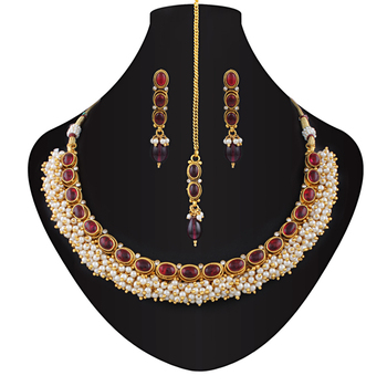Elegant Gold plated kemp necklace set
