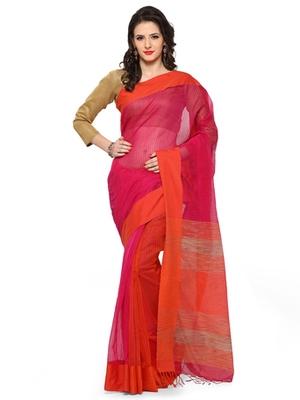 orange printed chanderi_silk saree