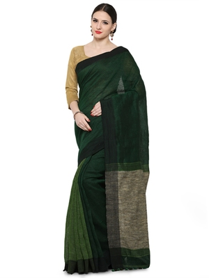 green printed chanderi_silk saree