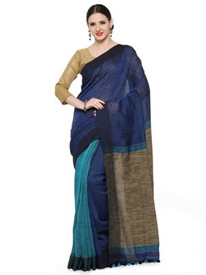 navy_blue printed others saree