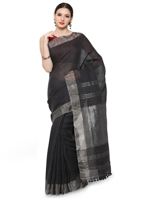 grey printed others saree