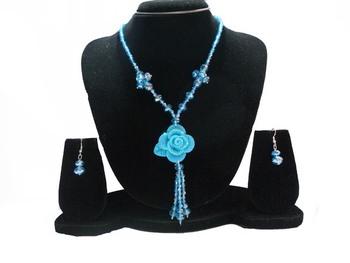 Blue Color Beads Necklace Set