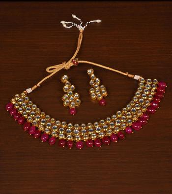 Kundan Embellished Meenakari Multi-layered Wedding Essential Choker