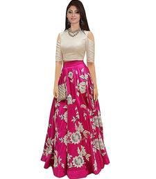 Buy pink art_silk embroidered lehenga