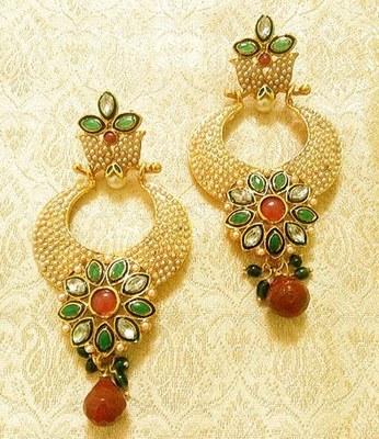 Designer fabulous multicolor copper alloy earrings