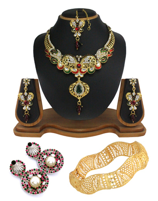 Wedding fashion designer combo jewellery