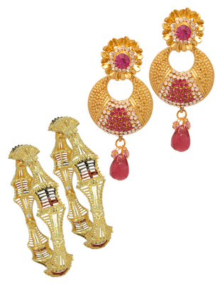 Awesome wedding fashion combo jewellery
