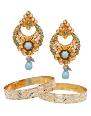 Diamonds & kundan studded combo jewellery