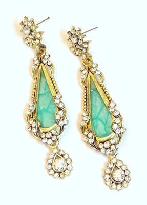 BLUE ZIRCON GOLDEN EARRING