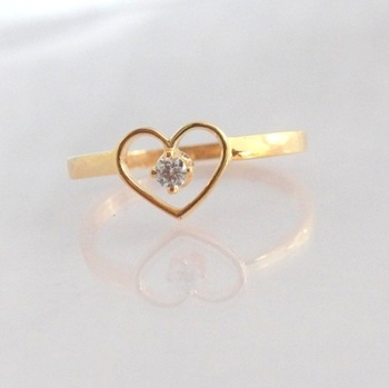 925 sterling silver gold plated ring