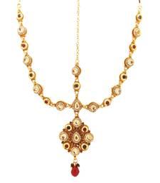 Buy Gold cubic zirconia maang-tikka maang-tikka online