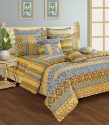 Buy Swayam Cotton Bedsheet  with Pillow Cover (Blue) bed-sheet online