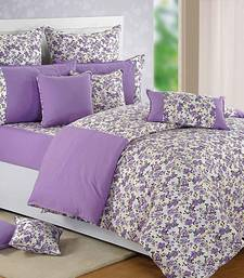 Buy Swayam Cotton Bedsheet  with Pillow Cover (Purple) bed-sheet online