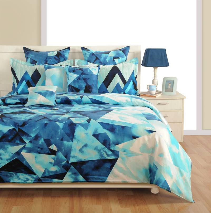 Buy Swayam Cotton (Satin Finish) Bedsheet With Pillow