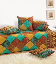 Buy Swayam Cotton (Satin Finish) Bedsheet  with Pillow Cover (Turquoise) bed-sheet online