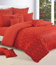 Buy Swayam Cotton Bedsheet  with Pillow Cover (Orange) bed-sheet online