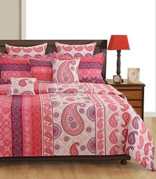 Buy Swayam Cotton Bedsheet  with Pillow Cover (Pink) bed-sheet online