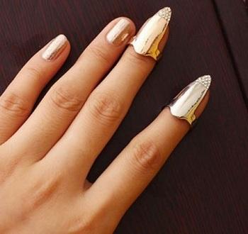 Fashion Rhinestones Nail Art Ring