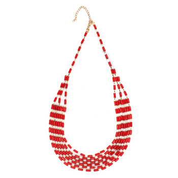 Red Color Fashion-forward Necklace