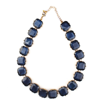 Blue Color Fashion-forward Necklace