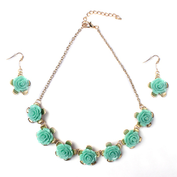 Blue Color Fashion-forward Necklace Set