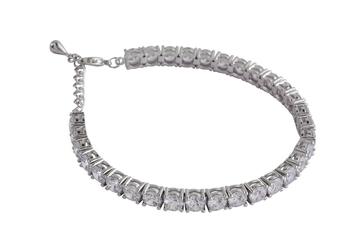single line rhodium bracelet
