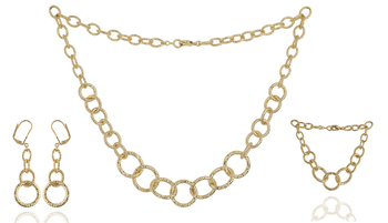 gold single line necklace