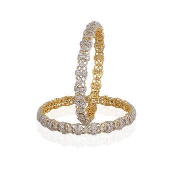 Heena Jewellery AD studded Bangles >> HJBG7 <<