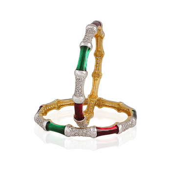 Heena Jewellery AD & Enamel Collection Bangles >> HJBG10 <<