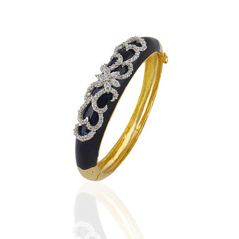 Heena Trendy Dark Blue Enamel Bracelete by Heena Jewellery >> HJBC02 <<